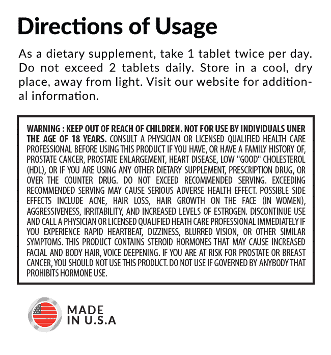 Androxx Directions of Usage