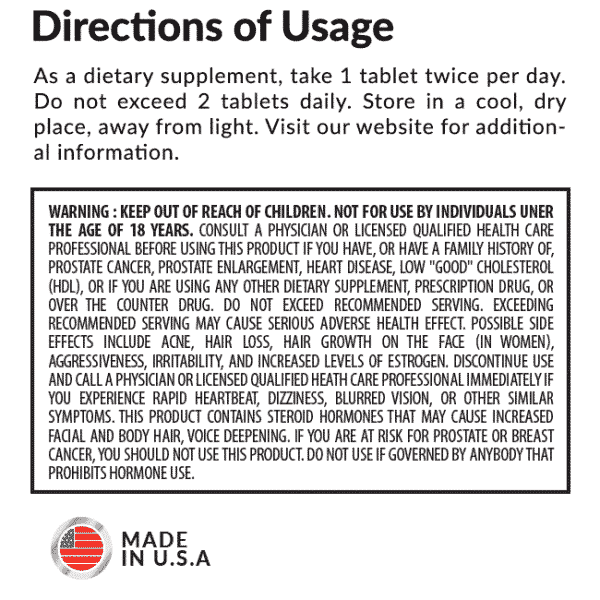 Axxis Directions of Usage