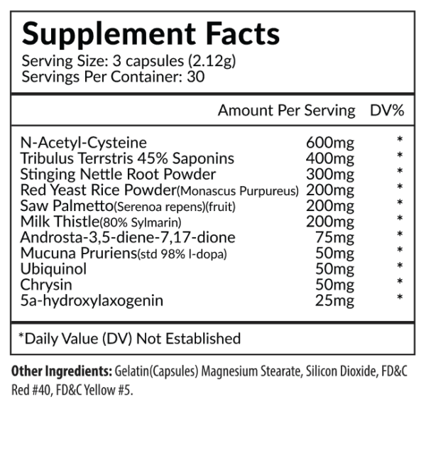 Descend Supplement Facts
