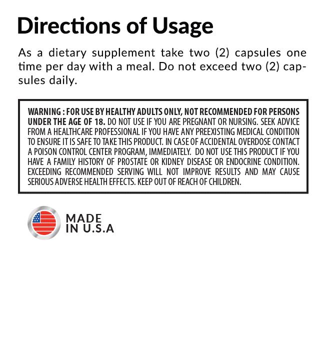 Exxstane Directions of Usage