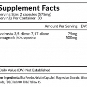 Exxstane Supplement Facts