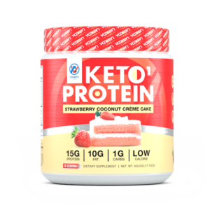 Keto1 Protein Strawberry Coconut Creme Cake